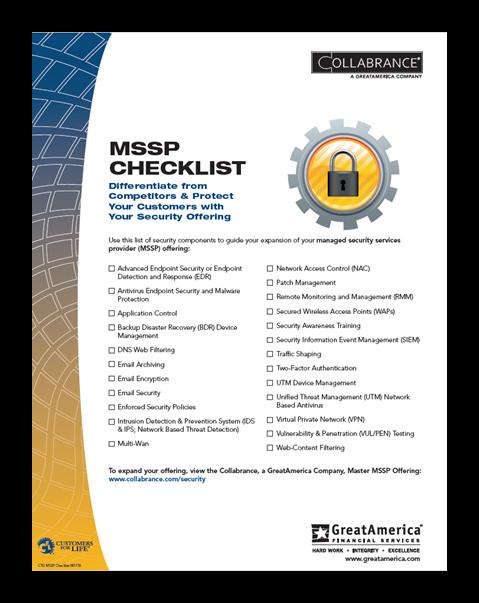 MSSP Checklist