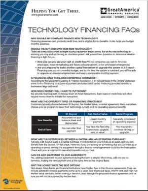 Technology Finance FAQs Cover-1